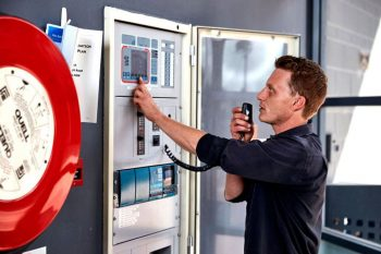 Betta Fire Protection accredited fire inspector inspecting and testing as required under the FPAS Scheme